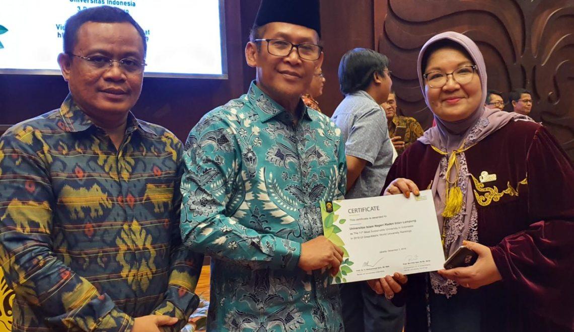 UIN RIL Peringkat 11 Kampus Hijau se-Indonesia